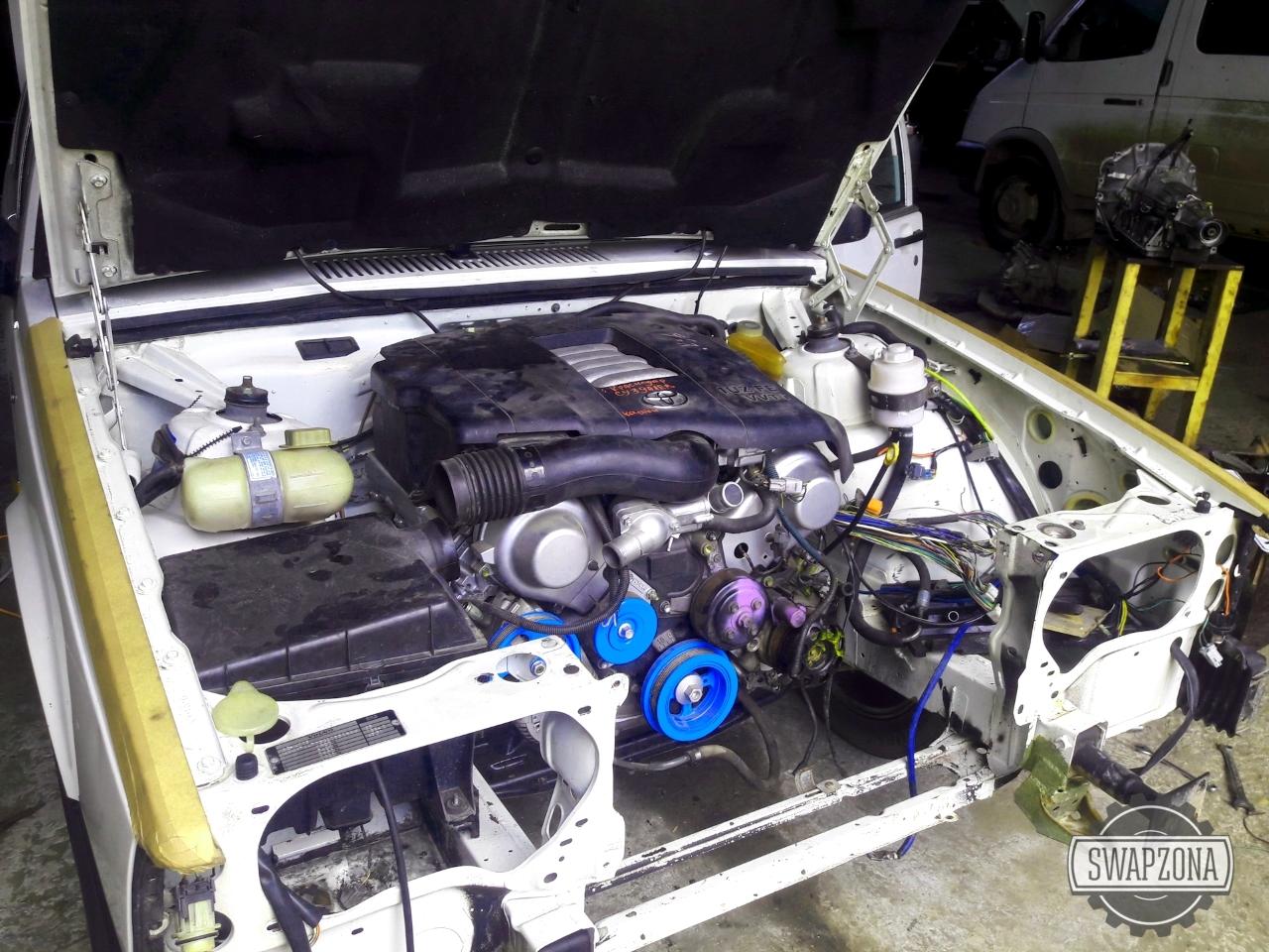 Volvo 740 с японским двигателем V8 Toyota 1UZ-FE АКПП swap